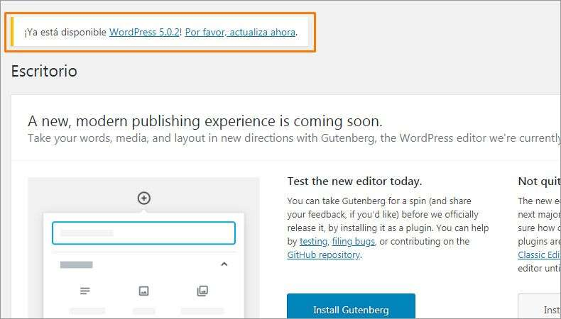 1 actualizar wordpress 5