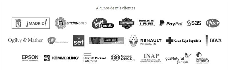 logotipos de autoridad en página web
