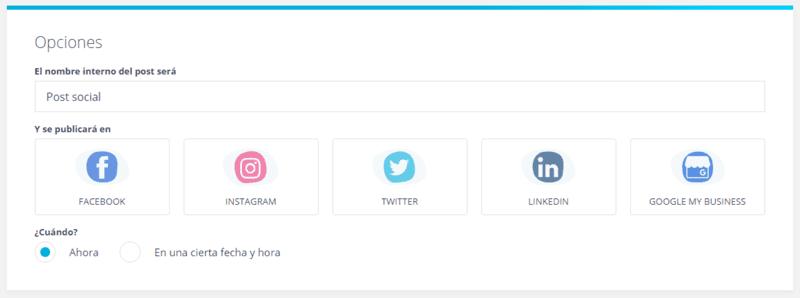 egoi post social crear post paso1 seleccionar redes