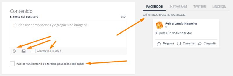egoi post social crear post paso4 contenido