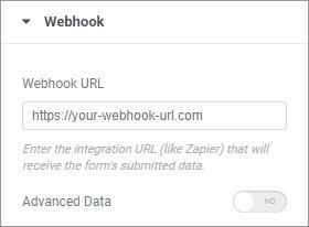 elementor webhook