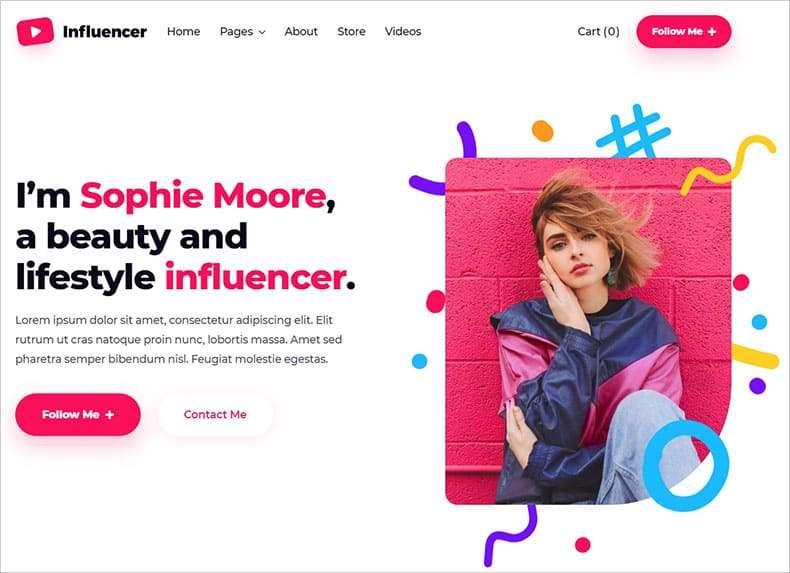 influencer template