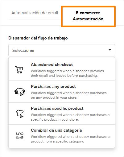 mailerlite automatizacion ecommerce