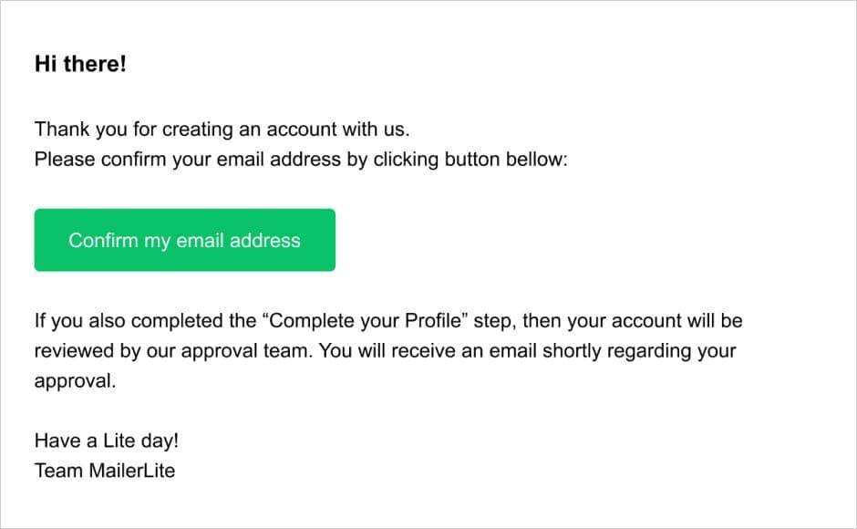 mailerlite email transaccional