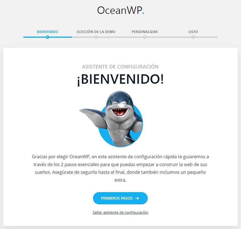oceanwp asistente