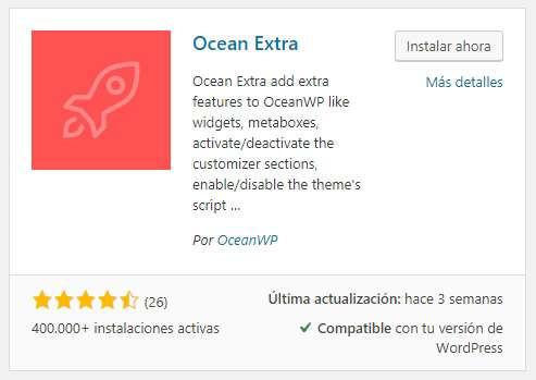 oceanwp oceanextra instalacion