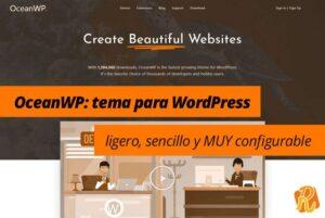 OceanWP: tema para WordPress ligero, sencillo y MUY configurable [incluye Vídeo]