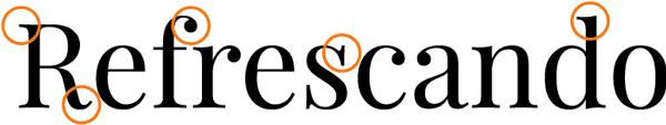 remates tipografia serif