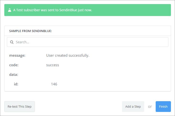 sendinblue test ok