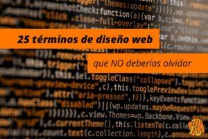25 términos de diseño web que NO deberías olvidar