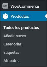 woocommerce productos