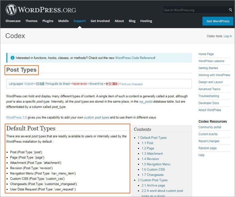wordpress cpts